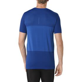 asics fuzeX Seamless Hardloopshirt korte mouwen Heren blauw